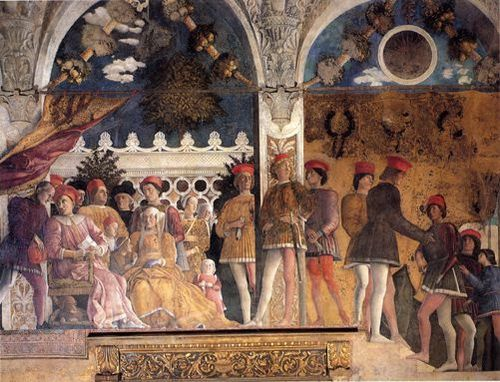 Andrea Mantegna La cour des Gonzague 1474 fresque Mantoue,