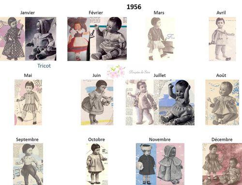 Modes et Travaux - Patrons poupée 1956