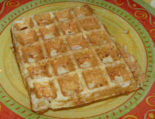 gaufre courgette jambon 1