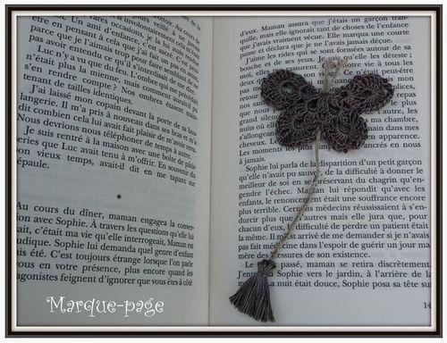 marque page papillon osiris
