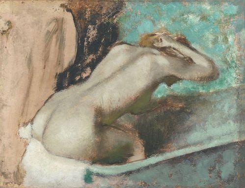 degas femme assise sur le rebord d'une baignoire