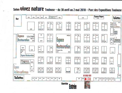 Venez me voir au salon bio toulouse du 30 avril au 2 mai for Salon bio toulouse
