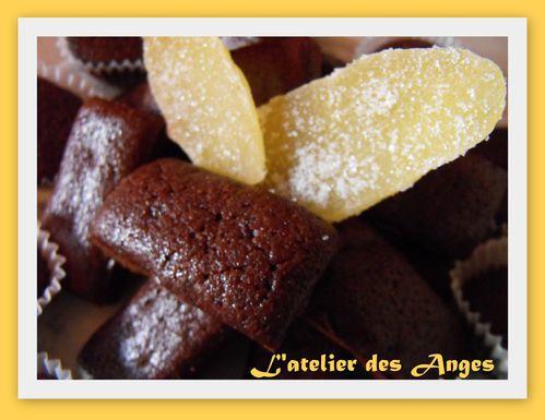 Financier chocolat gingembre 1