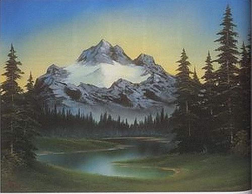 Bob Ross - The Joy of Painting - Lone Mountain