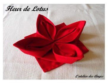 Pliage serviette deco de table l 39 atelier des anges for Pliage de serviette en papier facile et rapide pour noel