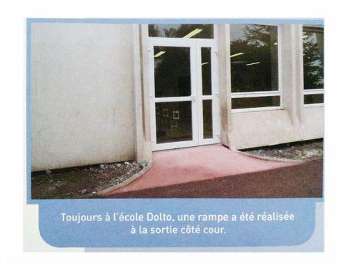 rampe accès école Dolto