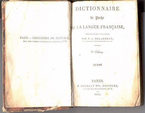 Dictionnaire de poche de la langue française2