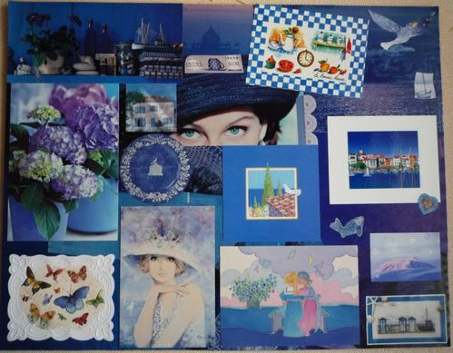 Collage Bleu de Claire