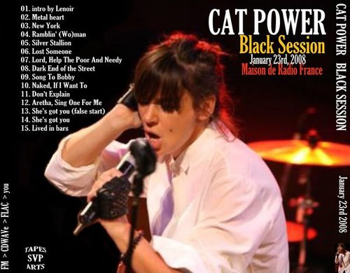 Cat Power Black Session 01.23.2008 back