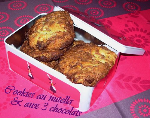Cookies nutella-3 chocolats1