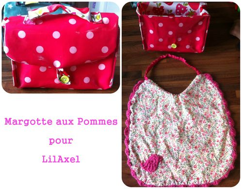 lunchbox rose bavoir