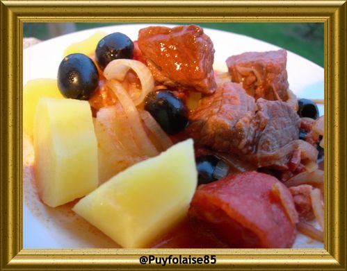 boeuf aux olives, du blog de puyfolaise 85