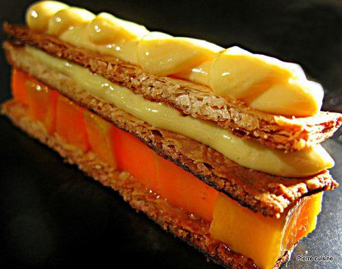 millefeuilles mangues et creme legere gingembre finale