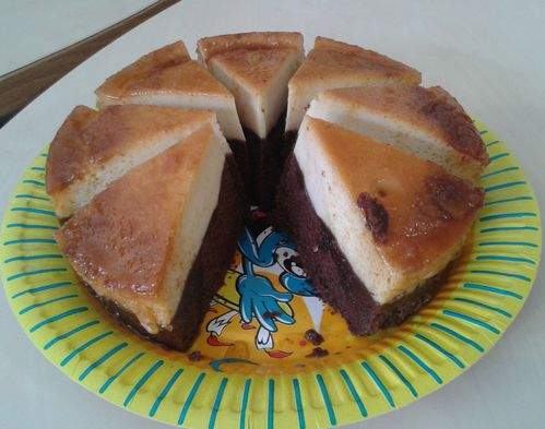 Gateau magic chocolat caramel