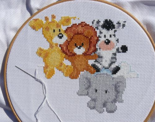 animal medley birth sampler 4