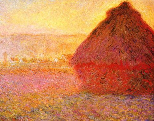 Monet paysage de campagne les meules