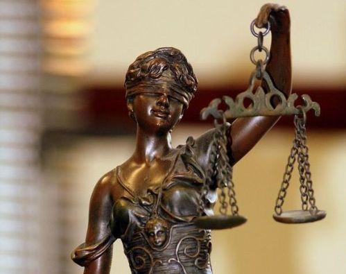 Statut justice bronze