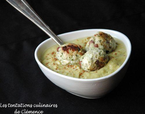 soupe pois cassé curry boulettes