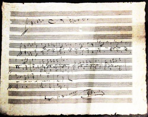 787i Manuscrit musical de Verdi
