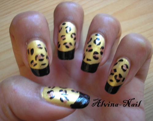 leopard french noir, Alvina-Nail