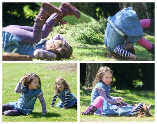 collage dans l'herbe 3