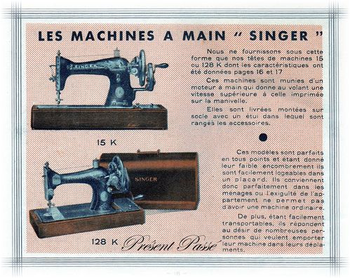 les machines à main SINGER 18