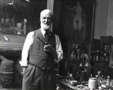 8 -- Van Dongen dans son atelier