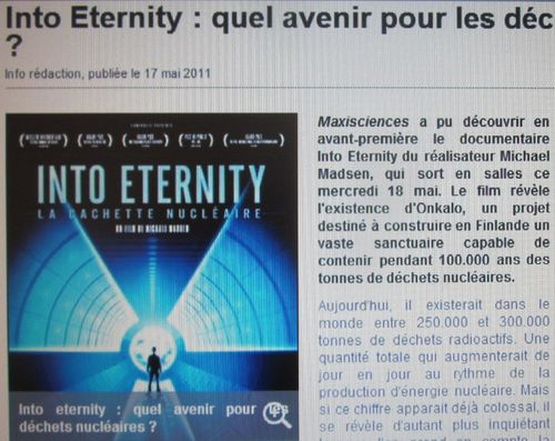 021 Film Into Eternity sur Maxisciences