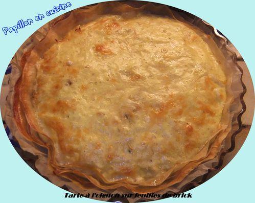 Recette tarte l 39 oignon sur feuilles de brick papillon en cuisine - Cuisiner la feuille de brick ...