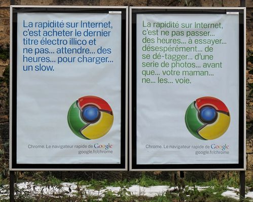 affiche Google chrome 8