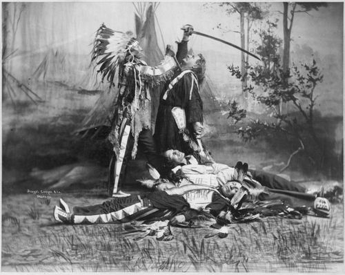 BUFFALO BILL scéne de la mort de Custer