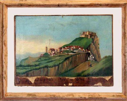 927h2 ''Vue de la ville et du fort de San Leo'' (Pietro Tav