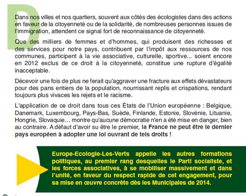campagne EELV droit vote étrangers 2