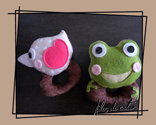 hochet zozio et grenouille