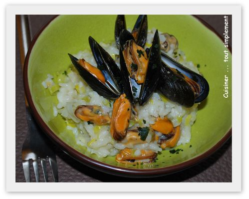 risotto poireau moules