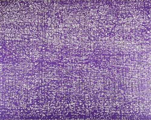 2 - Méandres et lignes de vie - Violet et blanc