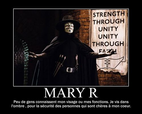 Mary R V for Vendetta