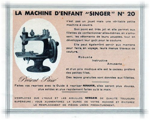 la machine d'enfant SINGER N°20 19
