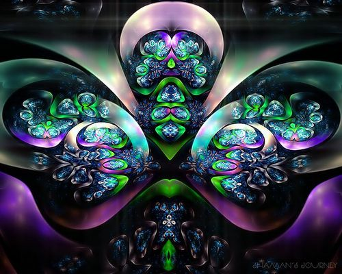 Fractal art Shamans Journey 71