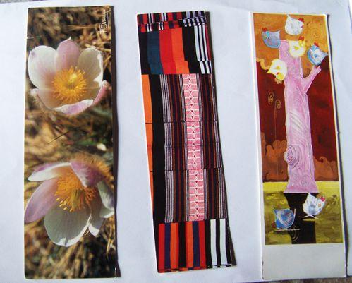 marque-pages Fleur L'Africain et Cocotier