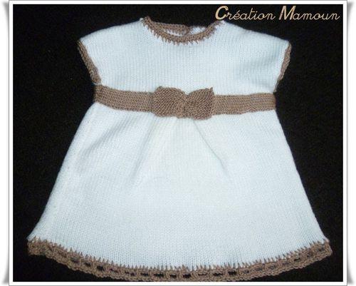 ensemble robe et chaussons blancs 1