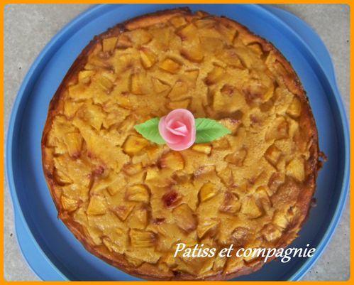Gâteau manqué à la nectarine