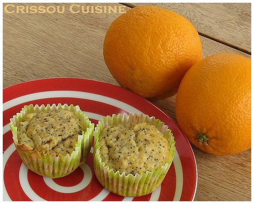 muffins orange pavot