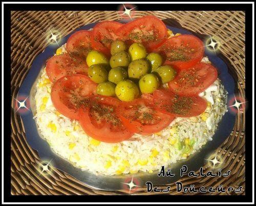 G teau de salade de riz au palais des douceurs for Salade en entree originale