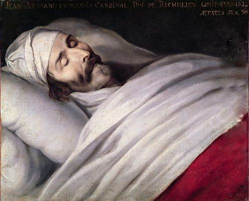 Cardinal-Richelieu-On-His-Deathbed-1642-Ph de Champaigne-Wi