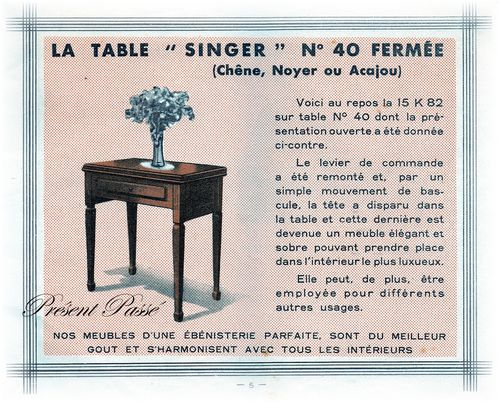 table SINGER N° 40 4