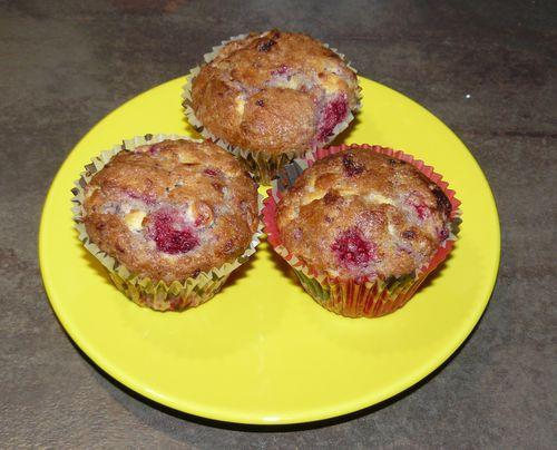 muffins framboise et chocolat blanc