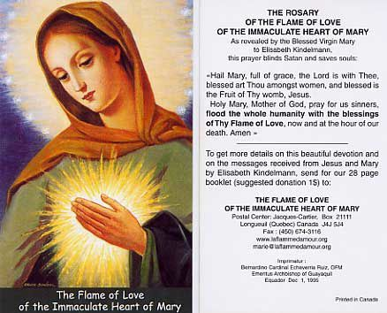 The Flame of Love with prayer