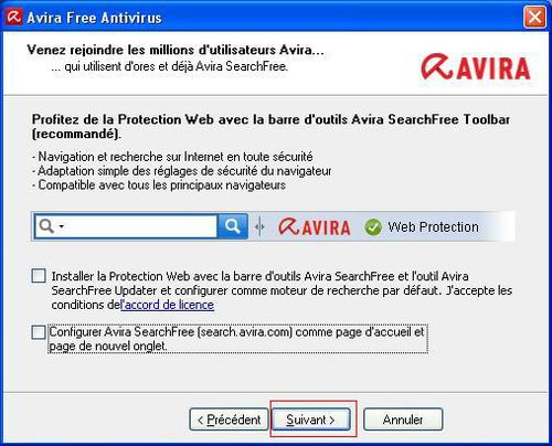 05 - Protection Web avec Avira SearchFree Toolbar
