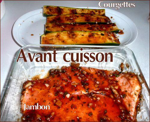 jambon courgettes avant cuisson